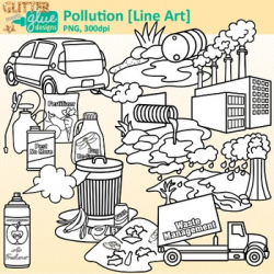 Pollution Clip Art | Conservation of Land, Water, & Air, Science ...