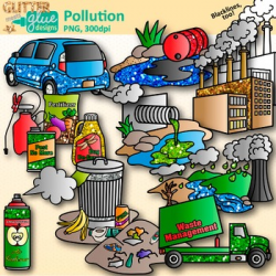 Pollution Clip Art | Earth Conservation of Land, Water, & Air ...