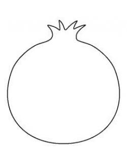 Image result for pomegranate clipart black and white | Rosh ha ...