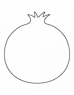 Pomegranate pattern. Use the printable outline for crafts, creating ...