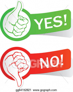 Vector Clipart - Yes or no. Vector Illustration gg64152821 ...