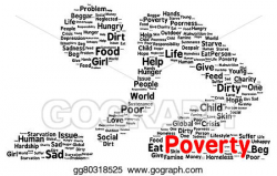 Stock Illustration - Poverty word cloud shape. Clipart Illustrations ...