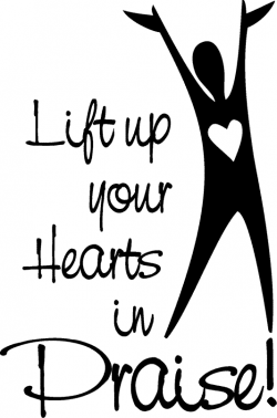 Free Christian Word Clip Art | Look At Worship Through Lifting hands ...