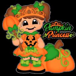 Pumpkin Princess | Halloween clip | Pinterest | Princess, Scrapbook ...