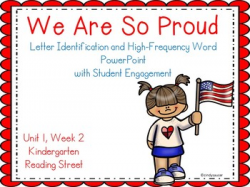 We Are So Proud, PowerPoint with Student Engagement, Kindergarten