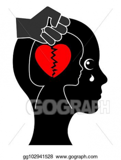 Clipart - Emotional and mental wounds. Stock Illustration ...