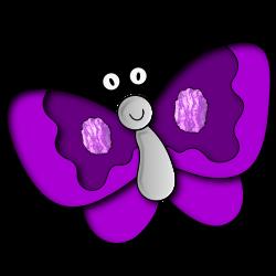 Clipart - Butterfly purple