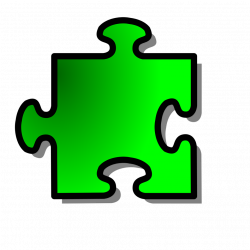 Puzzle Piece | Free Stock Photo | Illustration of a green puzzle ...
