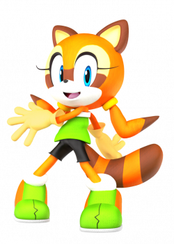 Marine The Raccoon, Sonic Rush Adventure pose 3D! by Nibroc-Rock on ...