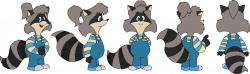 Raccoon Girl Fan Model Sheet by cheril59 on DeviantArt