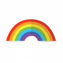 Rainbow colorful - Transparent PNG & SVG vector
