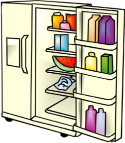Refrigerator Cleaning Clipart