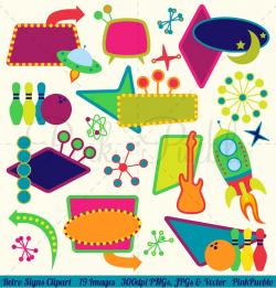 Retro Signs Clipart and Vectors ~ Illustrations ~ Creative Market