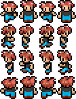 Clipart - Retro Character Sprite Sheet