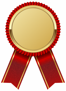 Gold Medal with Red Ribbon PNG Clipart Image | Ribbony | Pinterest ...