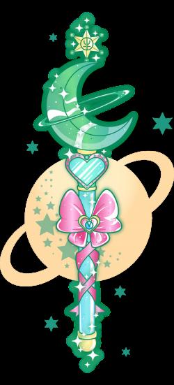 sugarcoatedunicorns: Sailor Neptune wand (with a little Uranus in ...