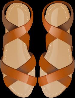 Brown Sandals PNG Clip Art - Best WEB Clipart