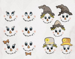 Scarecrow faces svg   Etsy
