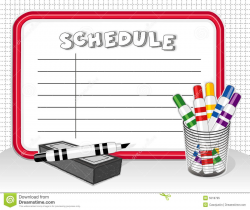 Fresh Schedule Clipart Design - Digital Clipart Collection