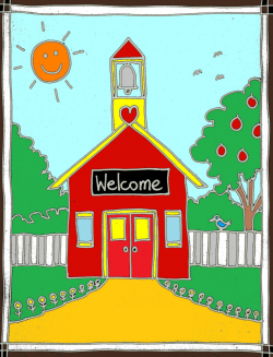 Welcome back to school schoolhouse clipart clipartfest ...