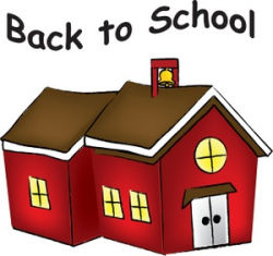 Back to school clipart image little red schoolhouse with ...