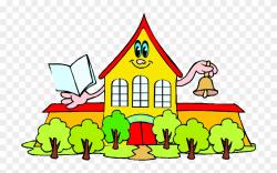 Download Yellow School House Clip Art Clipart School ...