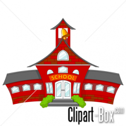 CLIPART SCHOOL BUILDING - CARTOON STYLE | Toddler/Preschool ...