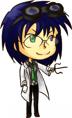 Me as an evil scientist by InkyDoc on DeviantArt