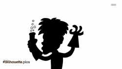 Mad Science Lab Clipart Silhouette @ Silhouette.pics