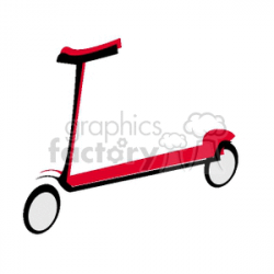 Royalty-Free Red Scooter 172306 vector clip art image - illustration ...