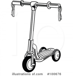 Scooter Clipart #100676 - Illustration by Andy Nortnik