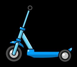 Unique Scooter Clipart Design