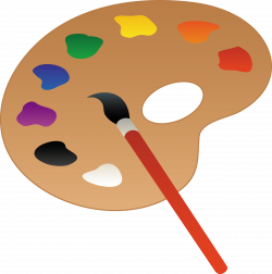Winning Clip Art Artists Palette With Paint And Brush Free - Free ...