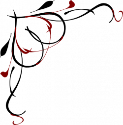 Heart Vine Corner Red And Black Clip Art at Clker.com - vector clip ...