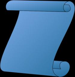 Scroll Blue Gradient Clip Art at Clker.com - vector clip art online ...