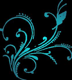 Aqua Scroll Clipart