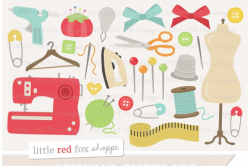 Sewing Supplies Clipart ~ Illustrations ~ Creative Market