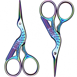 Poen 2 Pack Stork Scissors Embroidery Scissors Sewing Scissors Brow Shaping  Scissors Small for Crafting, Art Work, Threading, Needlework, Stainless ...