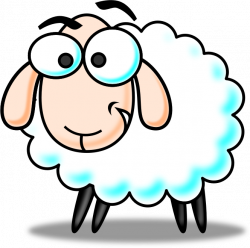 Download Sheep Clip Art ~ Free Clipart of Cute Sheep: Fluffy Hand ...