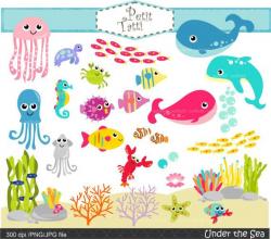 Under the sea Clip Art ,.- Fish Clip Art, sea shell Clip Art ...