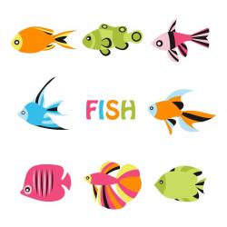 Under the Sea Clipart, Sea Shell Clipart, Ocean Fish Clipart ...