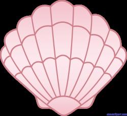 Sea Shell Pink Clip Art - Sweet Clip Art