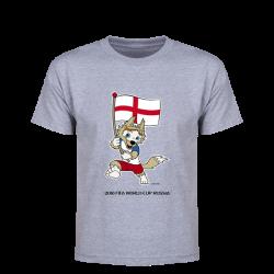 England 2018 FIFA World Cup Russia™ Zabivaka Youth T-Shirt (Grey ...