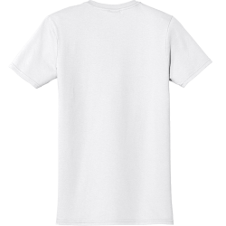 White Men's 100% Cotton T-Shirts Gildan 64000