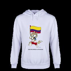 Colombia 2018 FIFA World Cup Russia™ Zabivaka Youth Hoody (White ...