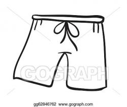 Vector Stock - A short pant sketch. Stock Clip Art ...