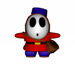 GameCube - Mario Party 6 - Shy Guy (Mail) - The Models Resource