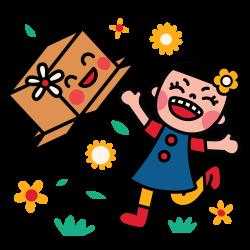 Facebook Stickes_ Box Girl - uijungkim