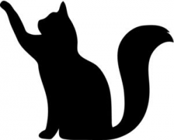 Free Cat Silhouette Clip Art Image: Clip Art Silhouette Of A Cat ...