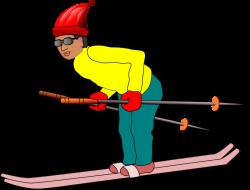 Clipart - Ski man